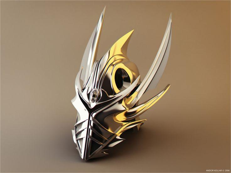 Helmet of Agrael, Fantasy Demon Greek Roman Warrior