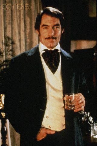 Timothy Dalton as Rhett Butler in the 1994 adaptation of the mini series sequel to GWTW based off of Alexandra Ripley's novel Scarlett