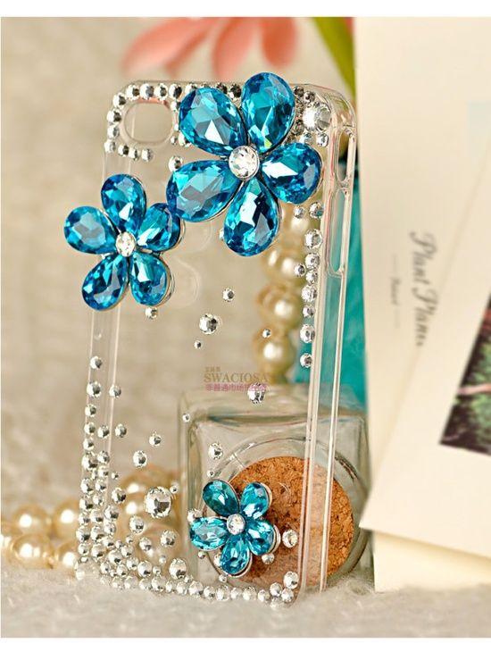 3D Alloy 4 Colors Crystal Daisy DIY Kits DIY Mobile I phone Case Deco Den Kit  