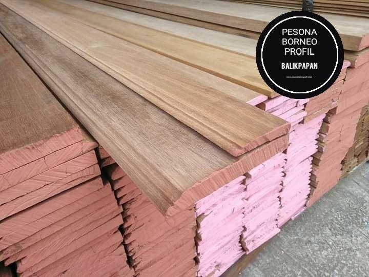 Lisplang Dan Papan Ketam Kayu Ulin Bangkirai Meranti Pesona Borneo Profil Kayu Papan Tekstur