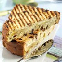 recept rozijnenbrood tosti banaan
