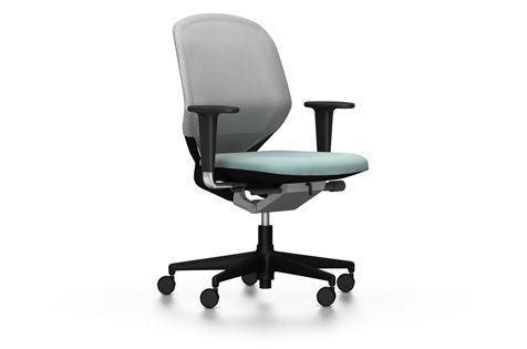 Vitra MedaPal Bürodrehstuhl in weiß und eisgrau. Eine von vielen Kombinationen. Bei prooffice.de #bürostuhl #stuhl #drehstuhl #chair #officechair #swivelchair #design