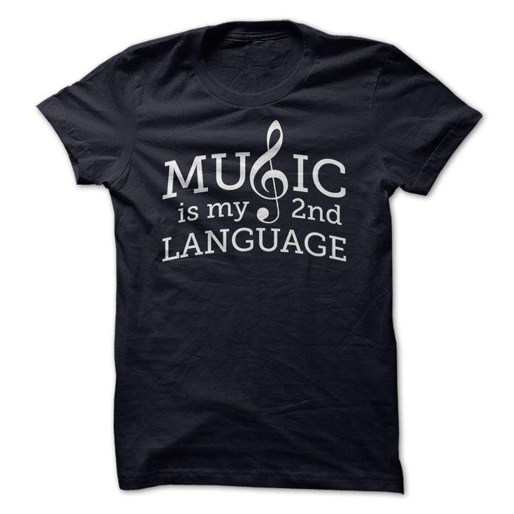 Music is My 2nd Language T Shirt #music #shirt