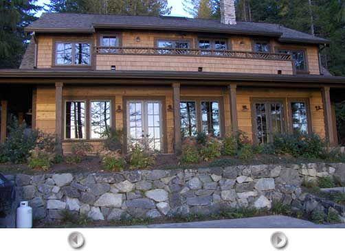 Dark Porch Columns With Dark Trim For The Home