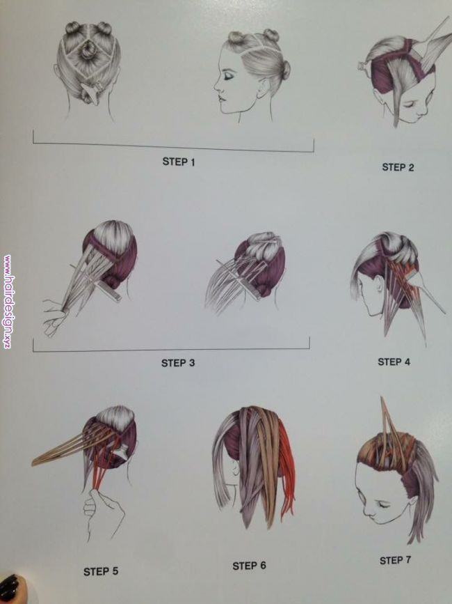 Sectioning Sweep Brunettehaircolor Sectioning Sweep Hair Color Techniques Hair Color Formulas Balayage Hair