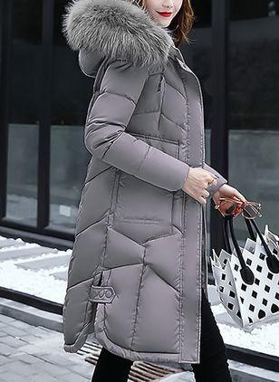 44b05c1448c Long Sleeve Hooded Padded Coats in 2019