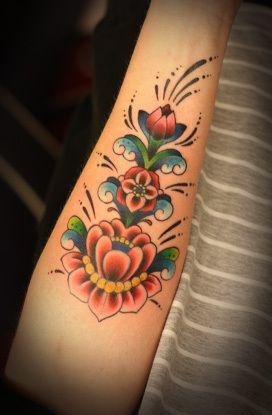 Swedish kurbits tattoo, love this.