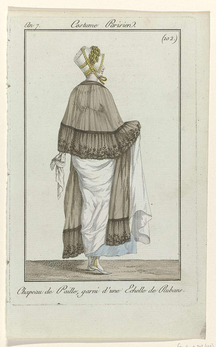 Journal des Dames et des Modes, Costume Parisien, 19 avril 1799, An 7 (102) : Chapeau de Paille..., Anonymous, 1799