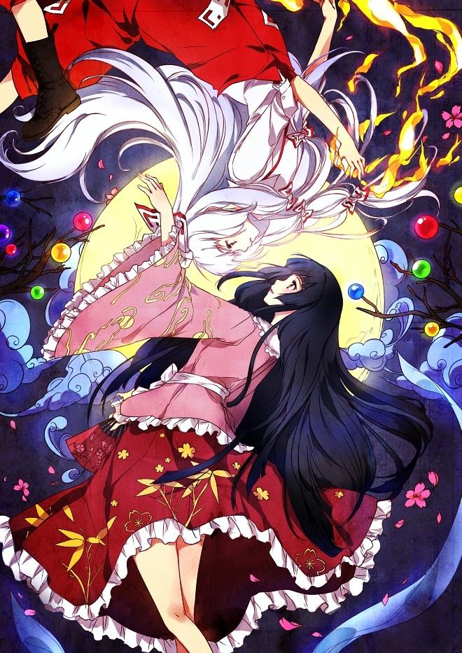 Touhou - Imperishable Night - Fan art!