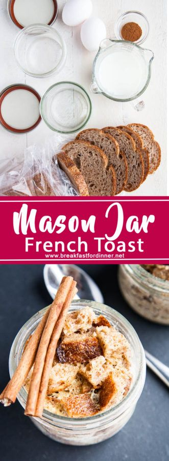 Who knew you could make French Toast in a mason jar?! In just 5 minutes, you can make cinnamony delicious Mason Jar French Toast! So fun and easy!