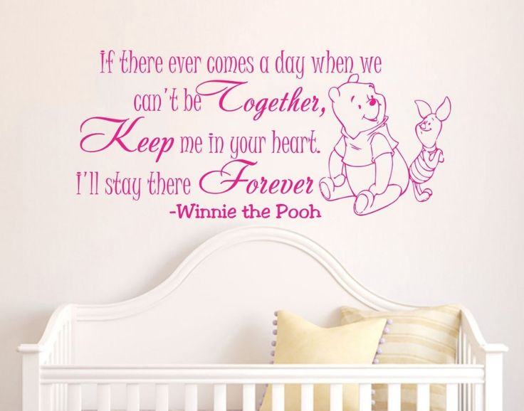 Nice Winnie The Pooh cartoon Baby Wall Stickers home decoration Bedroom Decor Vinyl Removable Wall Decals Kids