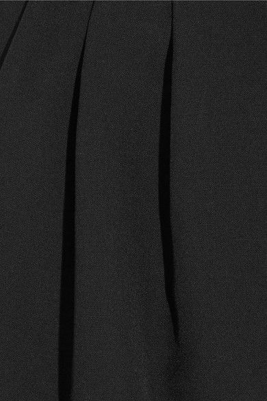 Comme des Garçons Comme des Garçons - Cropped Pleated Wool Tapered Pants - Black - x small