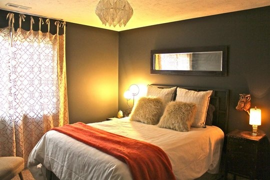 The 429 best bedroom images on Pinterest | Grey orange bedroom ...