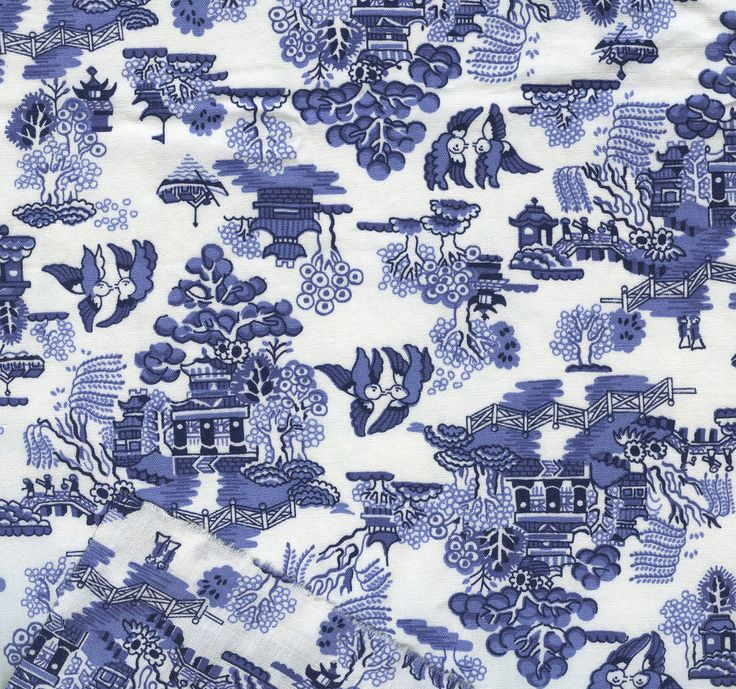 Willow Pattern Toile And Blue Willow China Transfer Ware