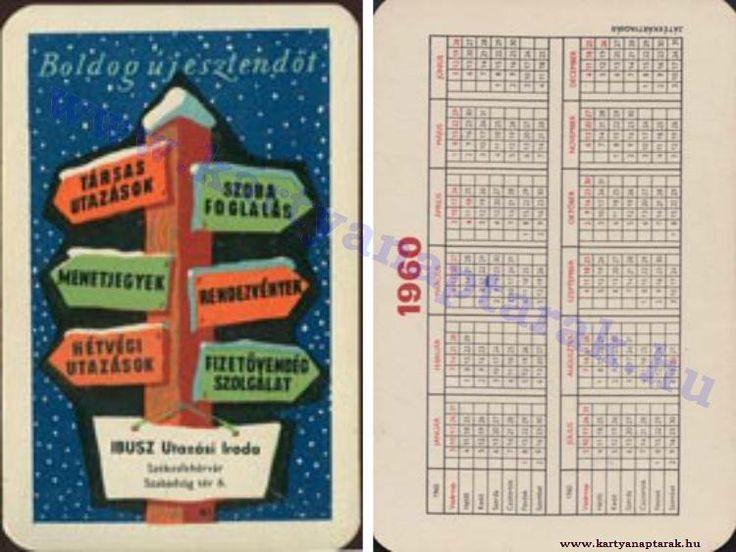 1960 - 1960_0093 - Régi magyar kártyanaptárak