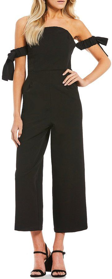 Gianni Bini Rose Tie Sleeve Jumpsuit
