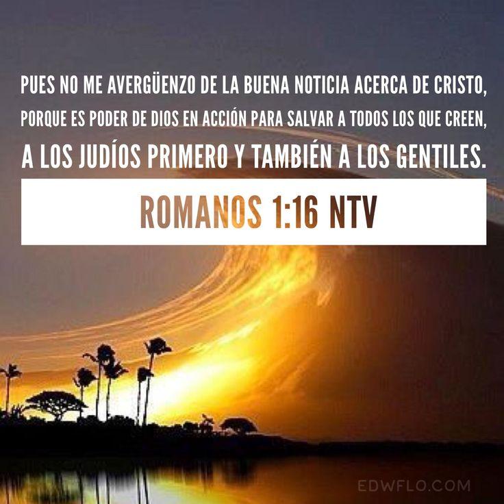 Romanos 1:16 – Citas, imágenes y reflexiones cristianas #reflexionescristianas