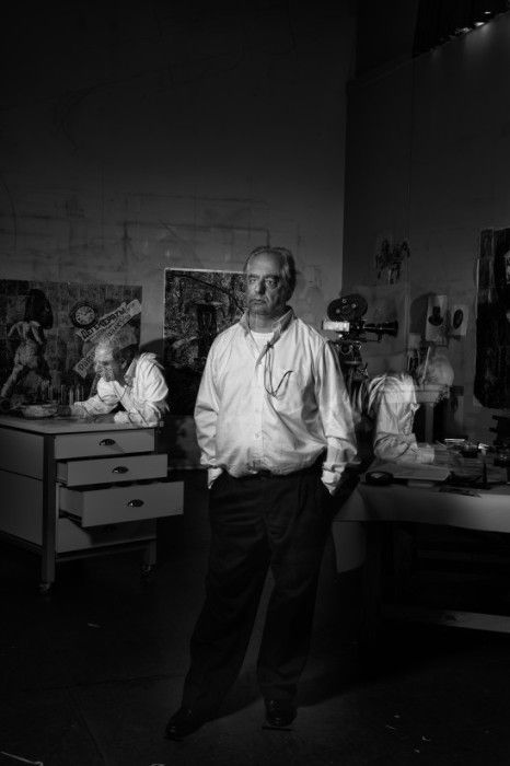 William Kentridge in21 Icons: Portrait of a Nation, at Museum of African Design, June 16 – Aug 17, 2014 #art #photography #portraits #southafrica
