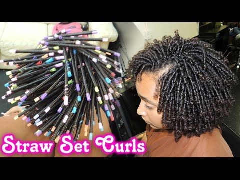 STRAW SET On NATURAL HAIR Style Demo [Video] - Black Hair Information