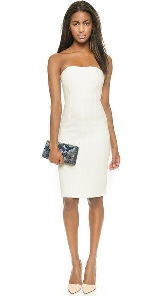 alice + olivia Облегающее платье без бретелек Nita