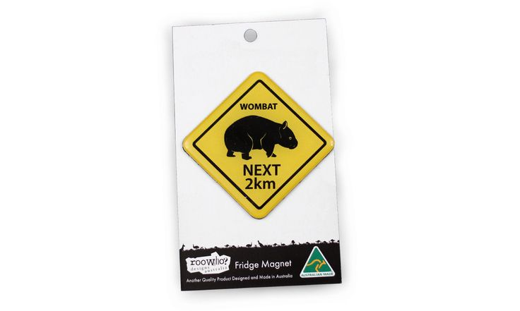 Roowho Road Sign - Wombat