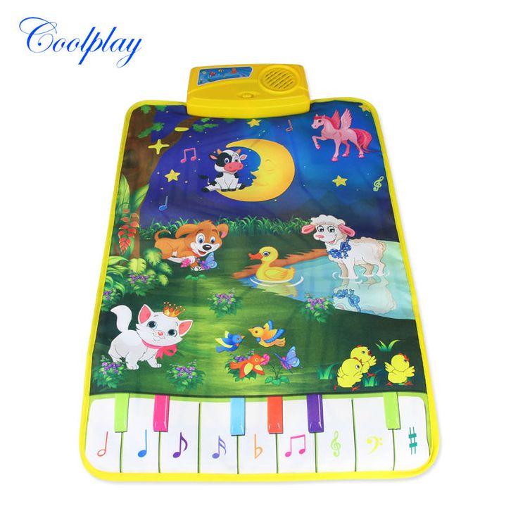 Coolplay 37.5x62 cm Moderno Nuevo Chico Baby Touch Juego Alfombra Mat Juguete Musical Cantando Música Luna y animales CP2301nc