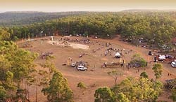 "Garma Festival  ""A garma is a sort of place – of rich resources for many people, this garma thing. For all yolngu [people]. Like this, all yolngu always used to come to this thing garma, coming together, all different groups."" Gunygulu Yunupingu"