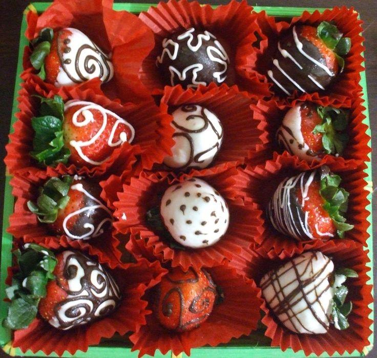 fresas decoradas con chocolate - Buscar con Google