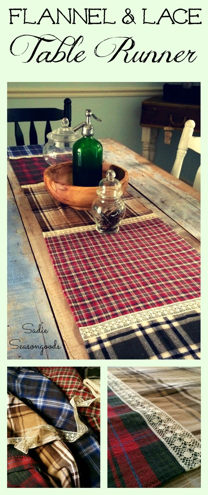 Create a cozy, warm autumn table runner (perfect for Fall into Winter) from