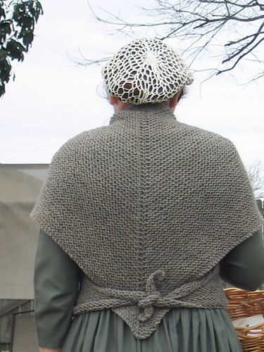Ravelry: Kay's Tess D'Urbervilles Shawl pattern by Kay Meadors. Finish with grosgrain ribbon for tying.