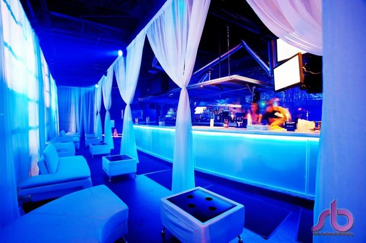 VIP lounge looking at the main bar