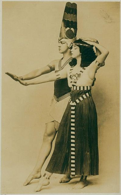 Ruth St. Denis and Ted Shawn in Egyptian Ballet. by New York Public Library, via Flickr