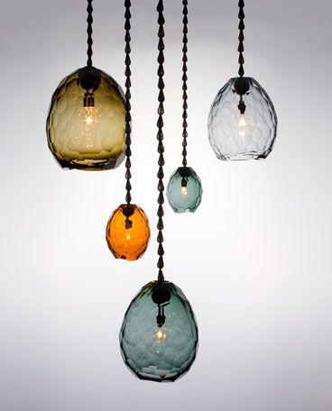 glacier pendants by David Wiseman
