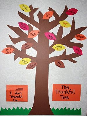 The Thankful Tree ///FOR ALL YEAR ROUND... TEACH THEM TO BE THANKFUL