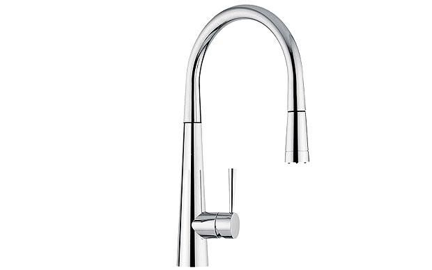 Franke kitchen tap - pull out nozzle with led light