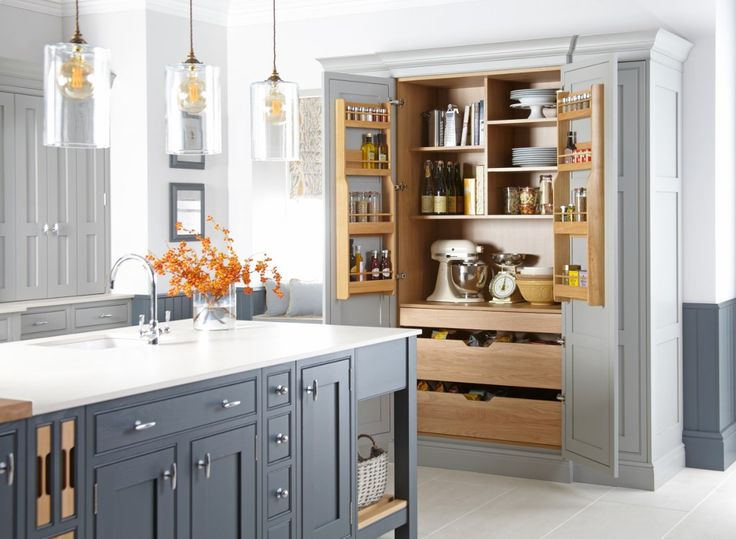 Burbidge's Langton Kitchen painted in Gravel and Seal Grey - Larder