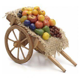 Carreta de frutas y verduras Pesebre Nápoles | venta online en HOLYART                                                                                                                                                                                 Más