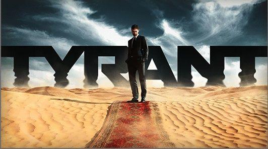 """Tyrant is een Amerikaanse serie van de zender FX.  De serie ging in première in 2014.  Tyrant volgt een bescheiden Amerikaanse familie die getrokken wordt  in het turbulente Middel-Oosten. Bassam """"Barry"""" Al Fayeed, de  jongste zoon van de dictator van een door oorlog vernietigd land,  gaat zelf terug naar zijn thuisland na 20 jaar verbannen te zijn,  samen met zijn vrouw en kinderen voor de bruiloft van zijn neef."""