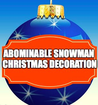 1000 images about abominable snowman christmas decoration for Abominable snowman christmas decoration