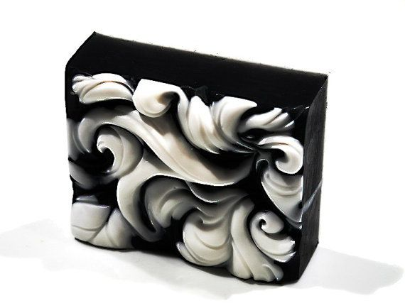 Rococo Waves Decorative Gift Soap Bar NEW DESIGN by SoapRhapsody