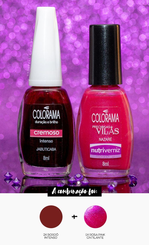 Combinando Esmaltes: suco de uva rosado - Unha Bonita