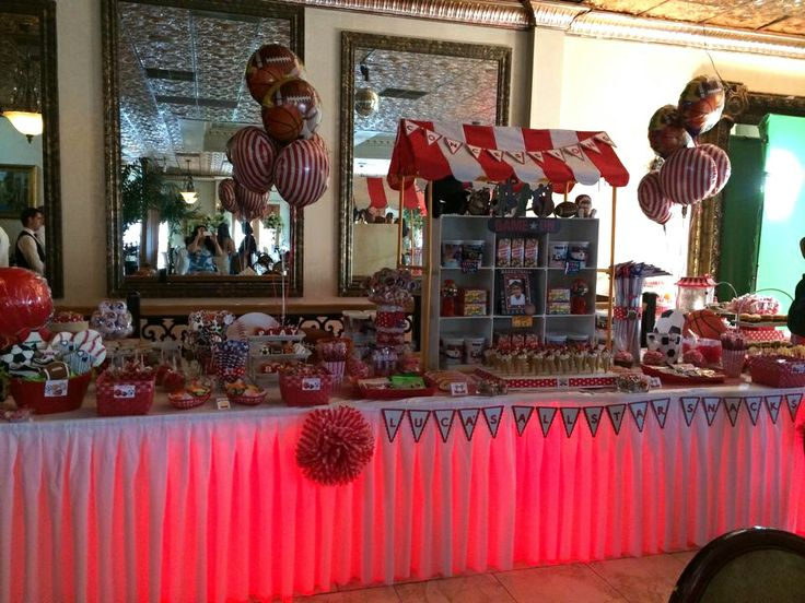 Sports Concession Stand Candy Table