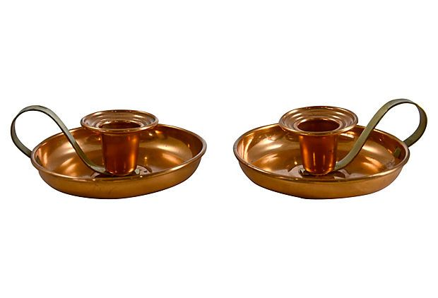 Copper Candlesticks,
