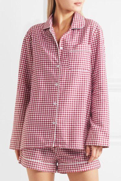 Three J NYC | Phoebe checked cotton-flannel pajama set | NET-A-PORTER.COM