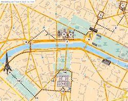 parijsmijnstad | Wandeling 9 naar 7, via 8 Parijs