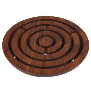 Casse tête bille dans labyrinthe en bois - Jeu de fabrication artisanale: Amazon.fr: Jeux et Jouets