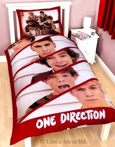 One Direction 'Boyfriend' Reversible Panel Single Bed Duvet Quilt Cover Set