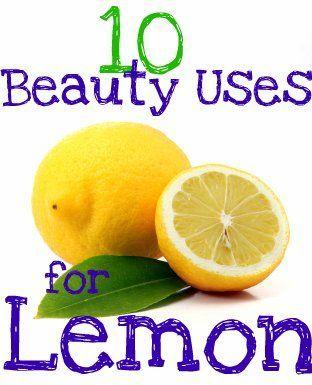 10 Beauty Uses for Lemon 1. Treat Blackheads with Lemon 2. Lemon as a Toner 3. Whiten Nails with Lemon 4. Lemon to Treat Acne 5. Lemon for Shiny Hair