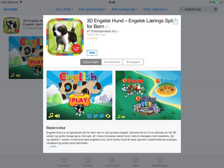 App med engelsk læringsmiljøer