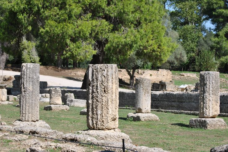 The ancient columns in Ancient Olympia. #greece #peloponnese #ancientolympia #OlympicGames #archaeology